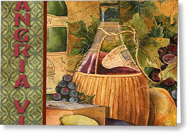Grape Leaves Greeting Cards - French Wine-JP3099 Greeting Card by Jean Plout