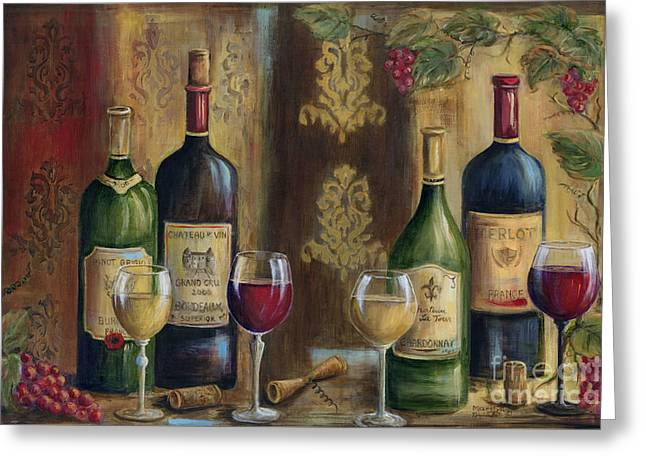 French Wine Tasting Greeting Card by Marilyn Dunlap