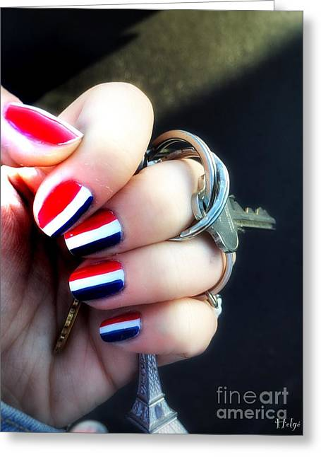 Original Art Photographs Greeting Cards - Frenchy Nails Greeting Card by Helge