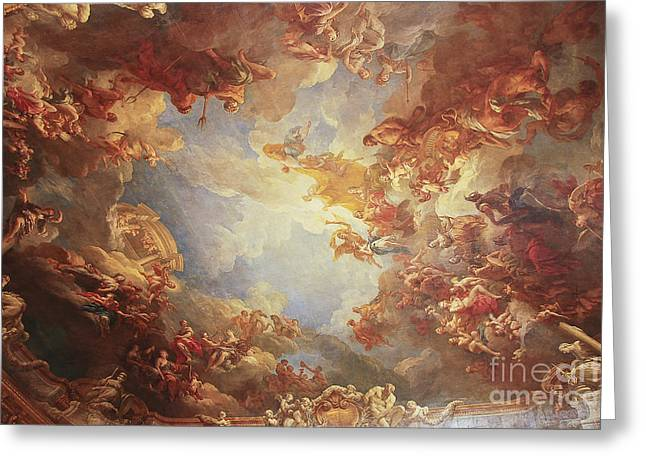 Greeting Cards - Fresco Versailles Greeting Card by Ivy Ho