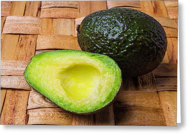 Fresh Avocado Greeting Card by Garry Gay