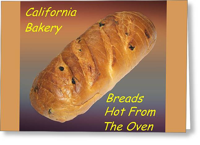 Fresh Food Drawings Greeting Cards - Fresh Baked Bread Customized  Greeting Card by Movie Poster Prints