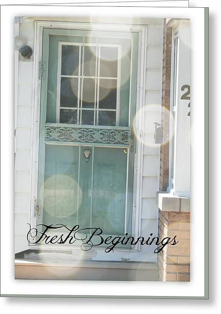 Screen Doors Greeting Cards - Fresh Beginnings Greeting Card by Deborah Kunesh