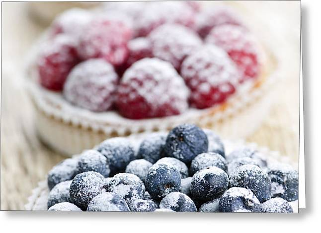 Fresh berry tarts Greeting Card by Elena Elisseeva