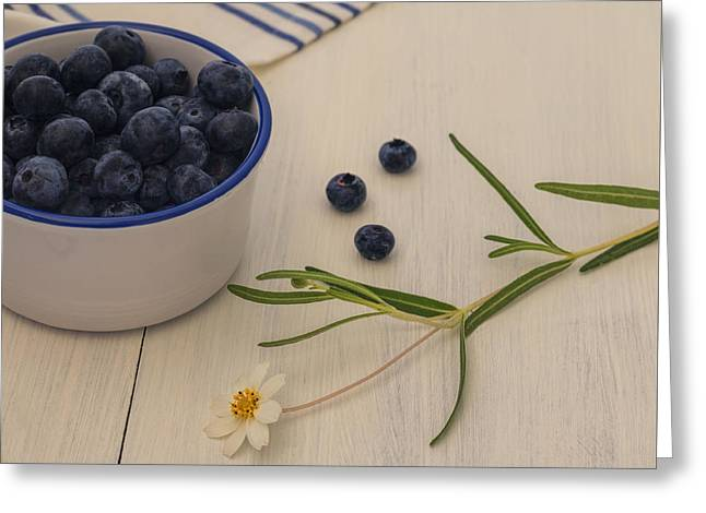 Berry Greeting Cards - Fresh Blueberries Greeting Card by Kim Hojnacki