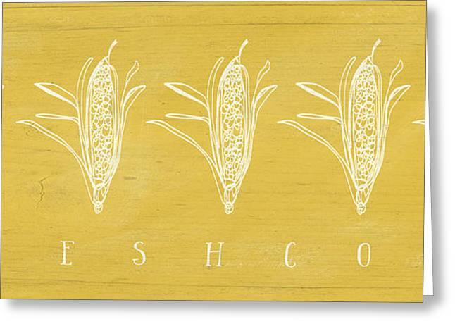 Farmers Market Greeting Cards - Fresh Corn- Art by Linda Woods Greeting Card by Linda Woods