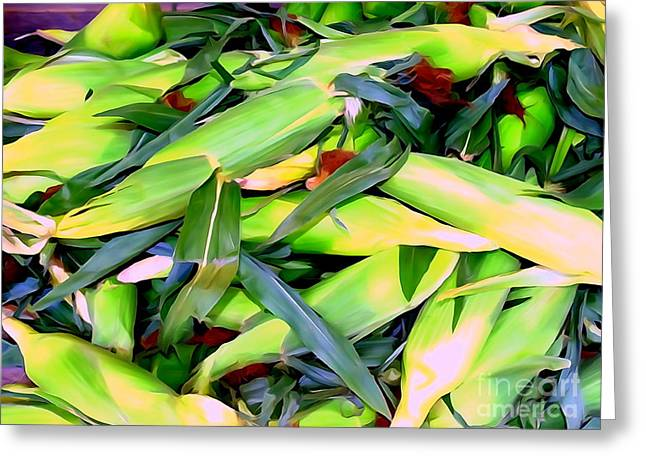 Farm Stand Greeting Cards - Fresh Corn Greeting Card by Ed Weidman