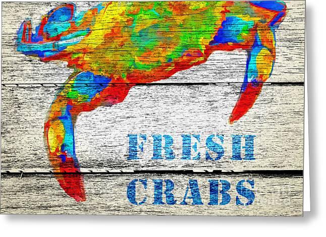 Fresh Crabs Greeting Card by Edward Fielding