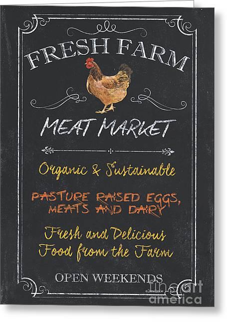 Fresh Farm Meat Greeting Card by Debbie DeWitt