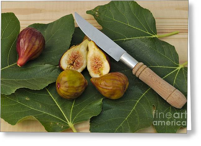 Closeup Greeting Cards - Fresh figs Greeting Card by Angelo DeVal