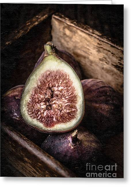Fresh Greeting Cards - Fresh Figs Still Life Greeting Card by Edward Fielding