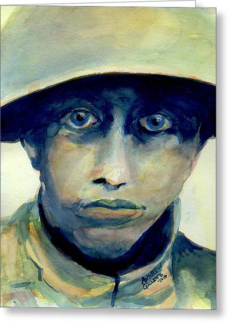World War One Paintings Greeting Cards - Fresh from the Front Line Greeting Card by Andrew Gillette