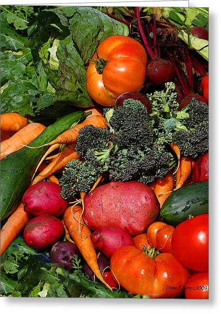 Produce Digital Art Greeting Cards - Fresh is Best Greeting Card by Diane E Berry