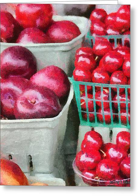 Fruits Greeting Cards - Fresh Market Fruit Greeting Card by Jeff Kolker