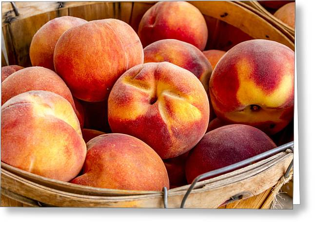 Fresh Peaches Greeting Card by Teri Virbickis