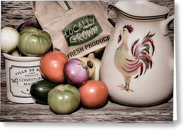 Brown Paper Bag Greeting Cards - Fresh Produce - 1b Greeting Card by Greg Jackson