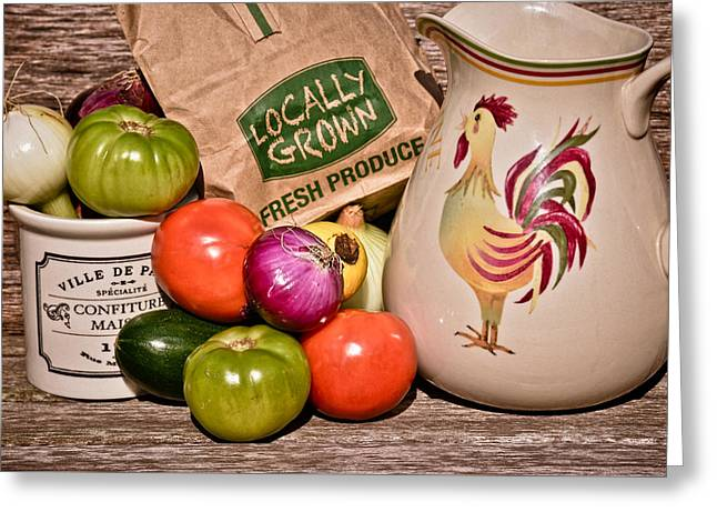 Brown Paper Bag Greeting Cards - Fresh Produce Greeting Card by Greg Jackson