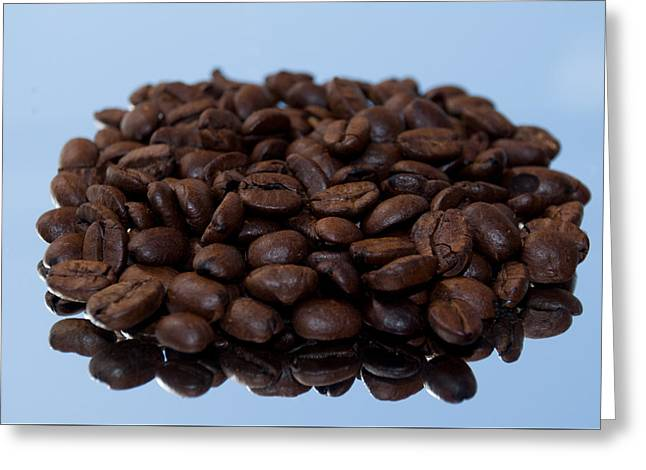 Commercial Photography Greeting Cards - Fresh Roasted Coffee Beans the Aroma Greeting Card by Dave Byrne