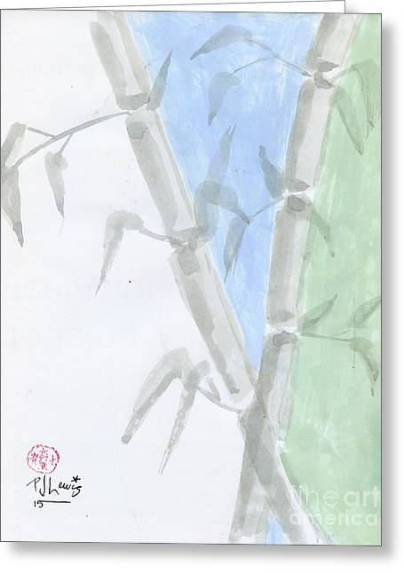 Light Blue Drawings Greeting Cards - Fresh Sliced Zen Greeting Card by P J Lewis