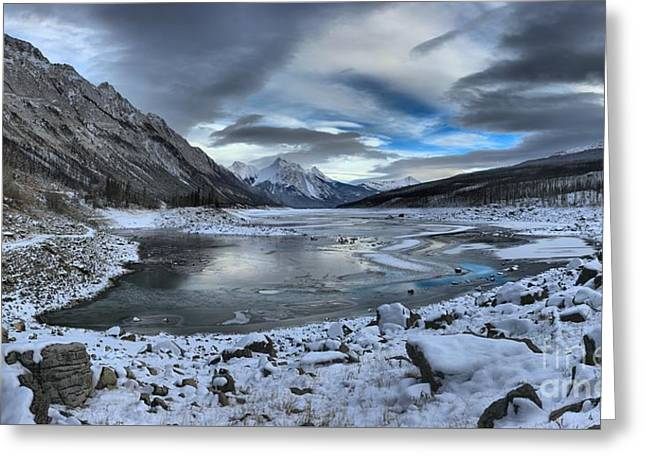 Fresh Snow At Medicine Lake Greeting Card by Adam Jewell