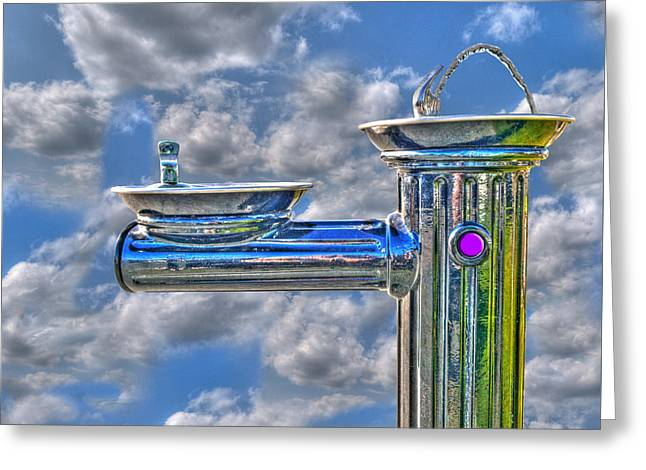 Fountain Digital Art Greeting Cards - Fresh Squeezed Water Greeting Card by Paul Wear