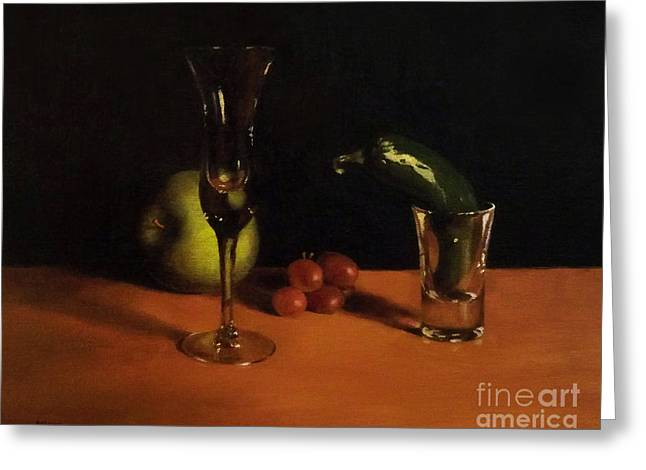 Wine-glass Greeting Cards - Fresh Start Greeting Card by Mike Rider