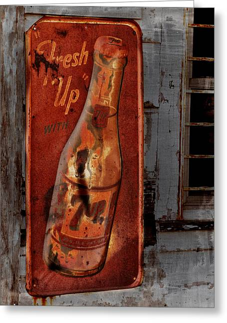 Fresh Up With 7up Greeting Card by Kathy Krause