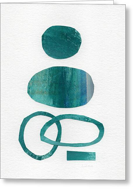 Geometric Art Greeting Cards - Fresh Water Greeting Card by Linda Woods