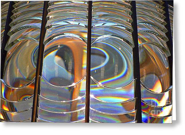Fresnel Lens Greeting Card by Larry Keahey