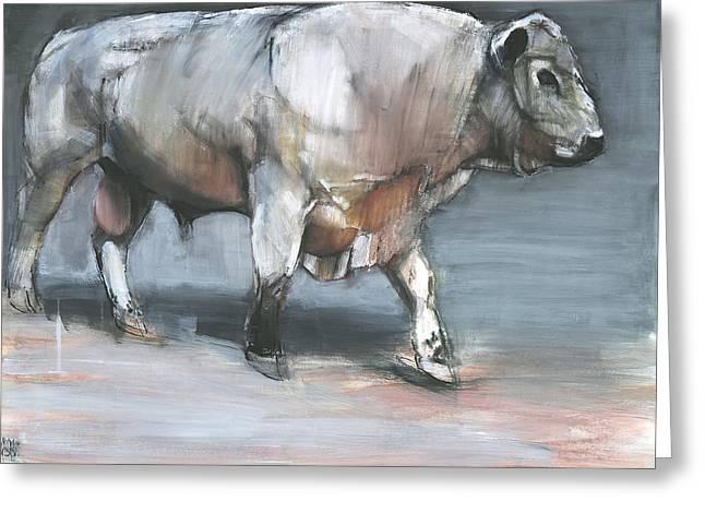 Fresno   Galloway Bull Greeting Card by Mark Adlington