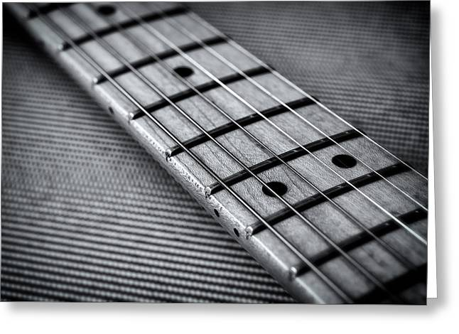 Straps Greeting Cards - Fret Board in Black and White Greeting Card by Matt Hammerstein