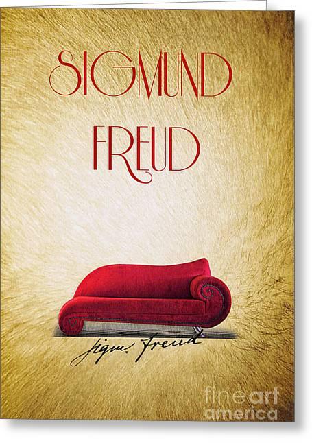 Freud Digital Art Greeting Cards - Freud Greeting Card by Binka Kirova