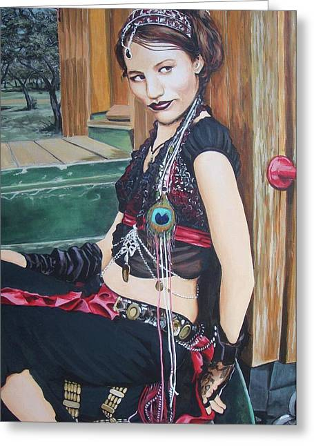 Gypsy Greeting Cards - Freya Greeting Card by Robert Kotrola