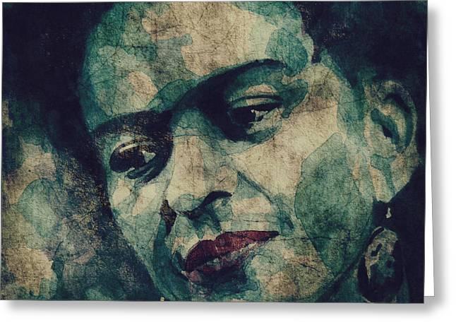 Frida Greeting Cards - Frida Kahlo National Treasure Greeting Card by Paul Lovering