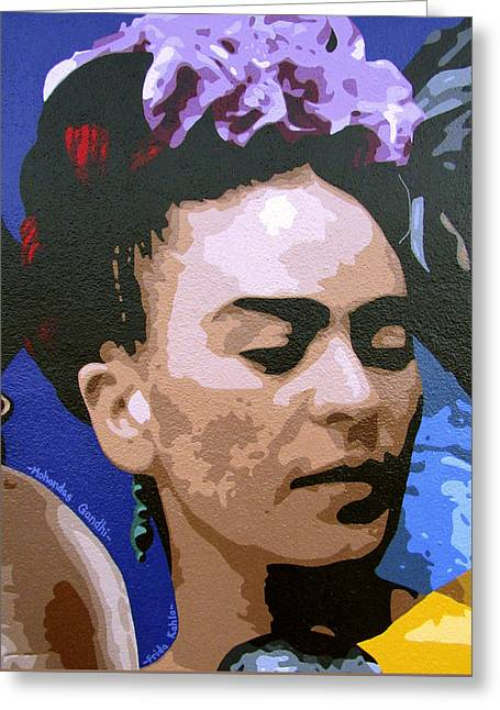 Frida Kahlo Greeting Card by Roberto Valdes Sanchez