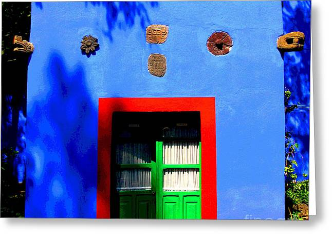 Portal Greeting Cards - Fridas Courtyard by Darian Day Greeting Card by Olden Mexico