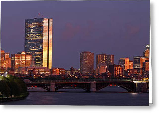 Charles River Greeting Cards - Friday Night Lights Greeting Card by Juergen Roth