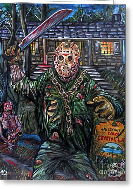 Friday The 13th Greeting Card by Jose Mendez