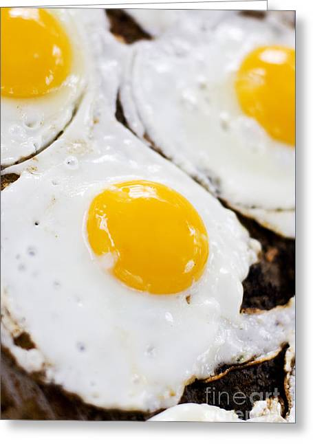 Fried Eggs Greeting Card by Jorgo Photography - Wall Art Gallery