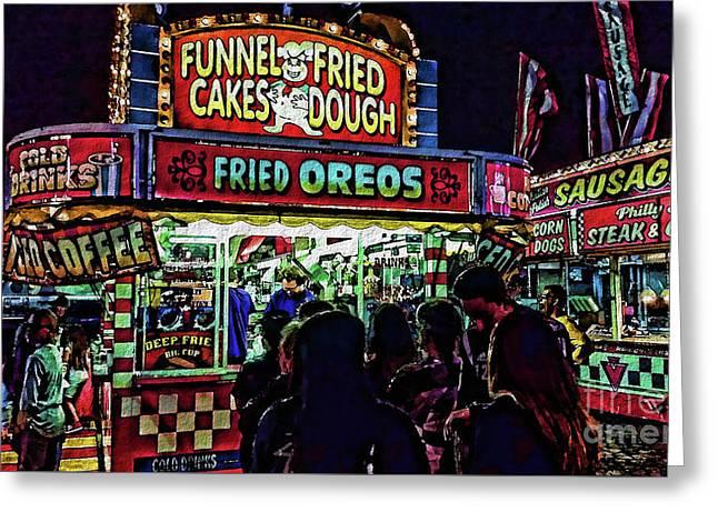 Fried Oreos Greeting Card by Jeff Breiman