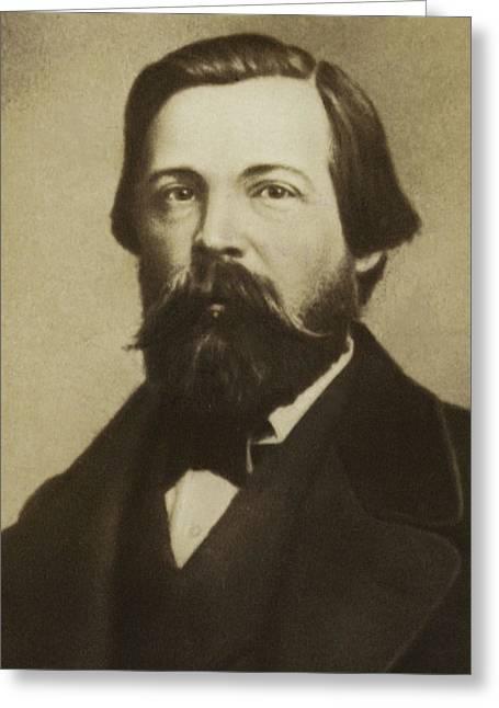 Friedrich Engels Greeting Card by German School