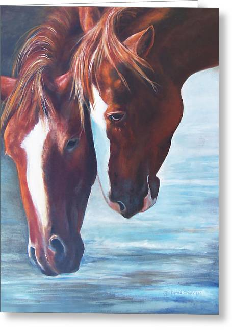 Chatham Greeting Cards - Friends For Life Greeting Card by Karen Kennedy Chatham