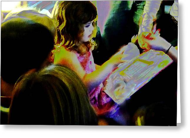 Friends Gather Round Greeting Card by JoAnn SkyWatcher