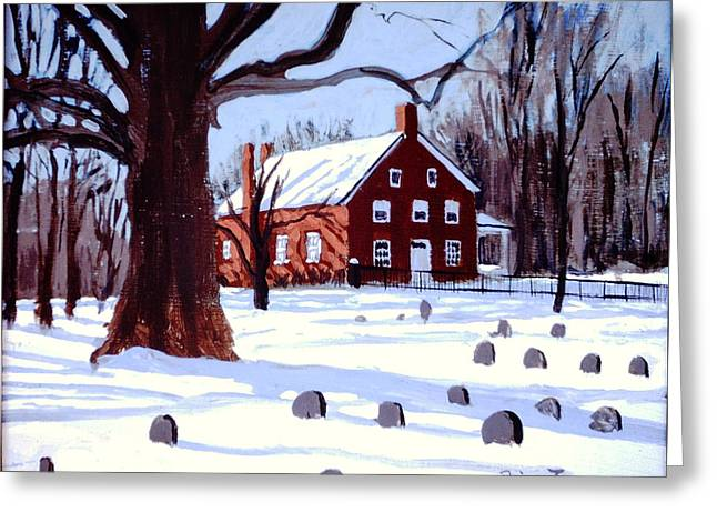 Md Paintings Greeting Cards - Friends House Greeting Card by David Zimmerman