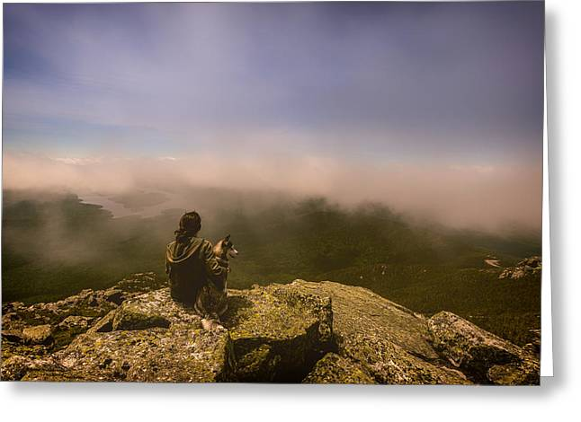 Valley Girl Greeting Cards - Friends With a Fantastic View Greeting Card by Vladimir Kudinov