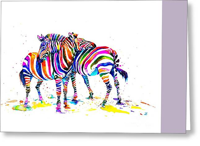 Recently Sold -  - Live Art Greeting Cards - Friends Greeting Card by Zaira Dzhaubaeva