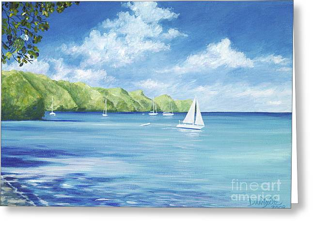 Danielle Perry Greeting Cards - Friendship Bay Greeting Card by Danielle  Perry