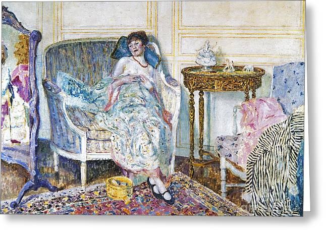 Dressing Room Greeting Cards - Frieseke: In The Boudoir Greeting Card by Granger