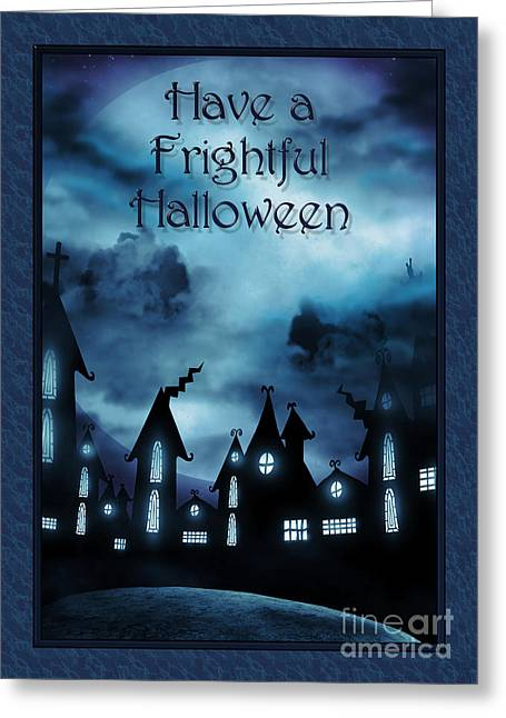 Special Occasion Greeting Cards - Frightful Halloween Night Greeting Card by JH Designs