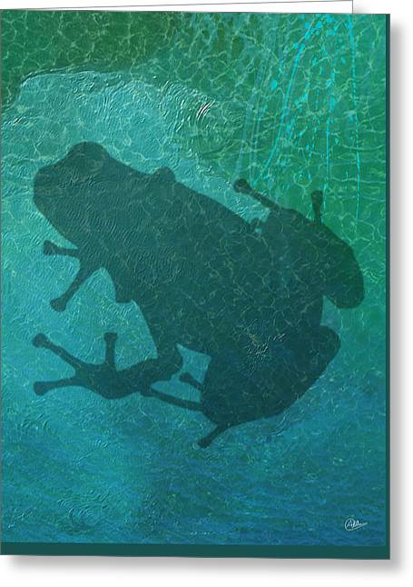 Amphibian Mixed Media Greeting Cards - Frog By Quim Abella Greeting Card by Joaquin Abella